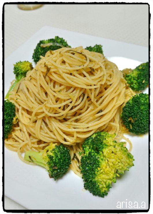 明太高菜のパスタ