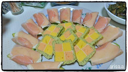 モッツァレラチーズとアボカドの生ハム巻き