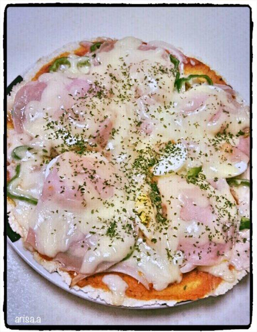 おから生地のピザ