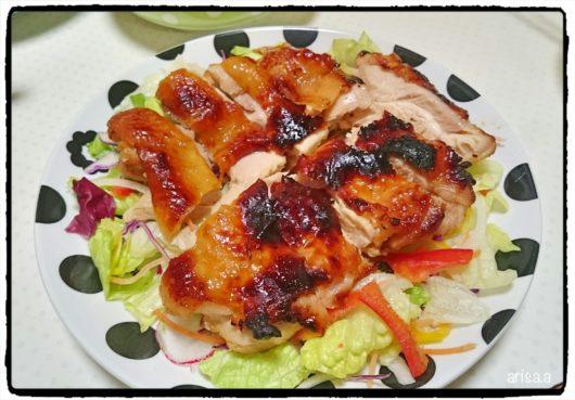 鶏の味噌あぶり焼き