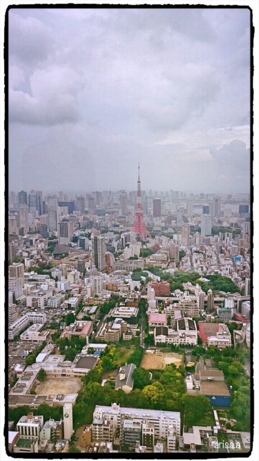 六本木ヒルズ52階からの景色
